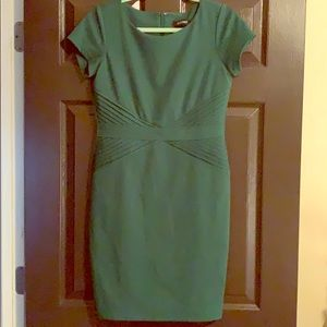Fitted emerald green dress